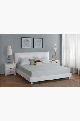 ST CLOUDLight Blue 300 TC Jacquard King Bedsheet With 2 Pillow Cover (Bedsheet Set (King)