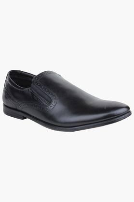 Mens Leather Slip On Formal Loafers - 200874656