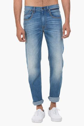 LEE Mens 5 Pocket Skinny Fit Heavy Wash Jeans (Bruce Fit) - 202175810