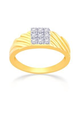 MALABAR GOLD AND DIAMONDS Mens Mine Diamond Ring KLRCR53062 Size 23