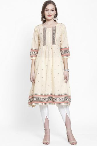 VARANGA -  Off White Salwar & Churidar Suits - Main