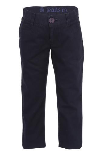 Girls 4 Pocket Solid Pants