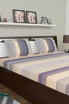 Stripe King Bed Sheet with Pillow Cover
