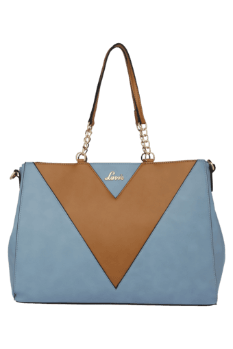 Womens Snap Closure 3 Compartment Large Tote Handbag