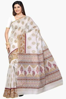 DEMARCA Womens Printed Cotton Saree - 201840175