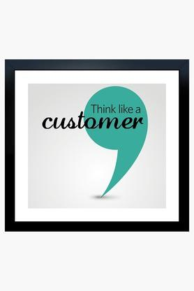 CRUDE AREA Multi Colour Think Like A Customer Fibre Portrait Frame  ...