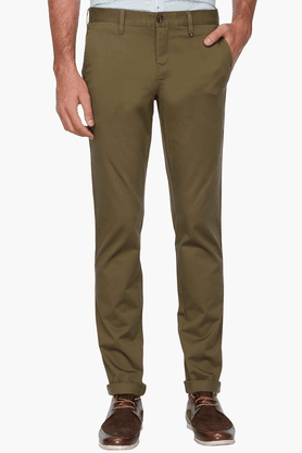 LOUIS PHILIPPE SPORTS Mens Slim Fit Solid Chinos - 200573189