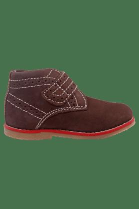 Boys Leather Casual Velcro Closure Sneaker