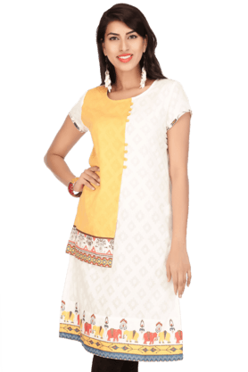 IMARA Women Cotton Printed Kurta - 200197950