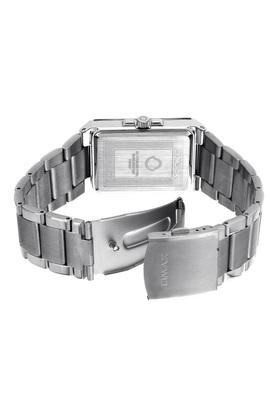Mens Omax Masterpiece White Dial Stainless Steel Analogue Watch - FA9-SS396
