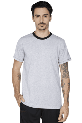 ADIDAS Mens Round Neck Short Sleeve Solid T-Shirt