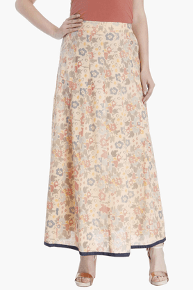 HAUTE CURRY Womens Printed Flared Skirt