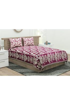 Printed Double Bed Cover with 2 Pillow Covers