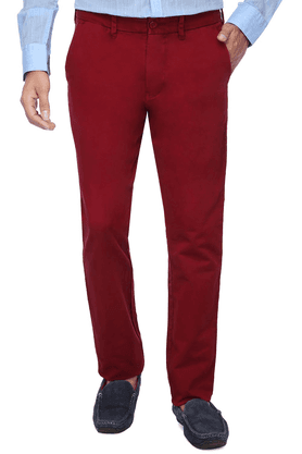 NAUTICA Mens Flat Front Slim Fit Solid Chino Trouser