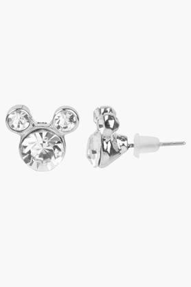 Girls Rhinestone Micky Mouse Earrings (3 Years +)