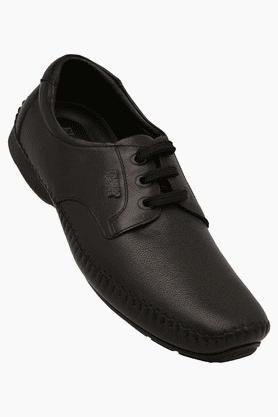 FRANCO LEONEMens Leather Slipon Smart Formal Shoe