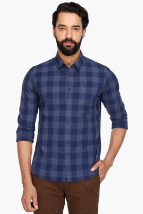 Calvin Klein Jeans Formal Shirts (Men's) - Mens Full Sleeves Casual Check Shirt