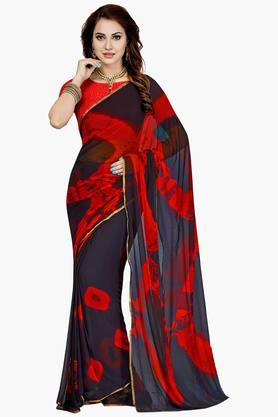 Women Faux Georgette Geometrical Printed Saree - 202447182