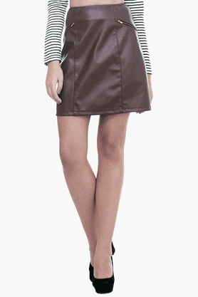 FABALLEY Womens A-line Mini Skirt - 201559995