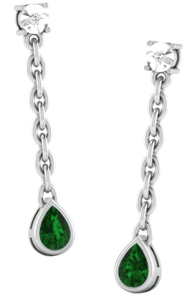 SPARKLES His & Her Collection 92 Kt Diamond Earrings In 925 Sterling Silver Diamond HHPXT9437-92KT
