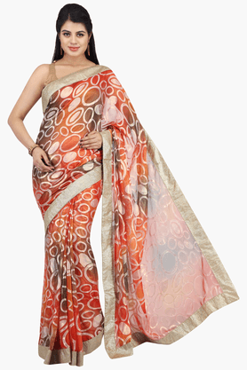 JASHN Womens Printed Saree With Blouse Piece - 201313004