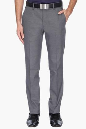 LOUIS PHILIPPE Mens 4 Pocket Slub Formal Trousers - 201758404