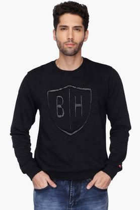 BEING HUMANMens Round Neck Printed Sweatshirt