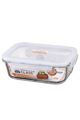 LOCK & LOCK Borosilicate Rectangular Heat Resistant Glass - 1 Litre