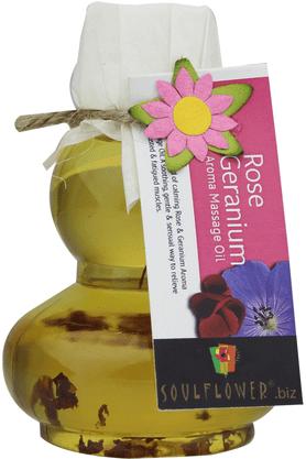 SOULFLOWERRose Geranium Aroma Massage Oil