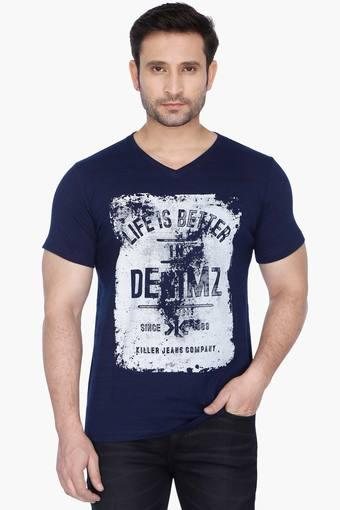 Buy KILLER Mens Lean Fit V Neck Printed T-Shirt Online | Shoppers Stop