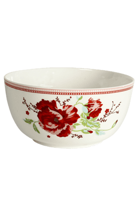 DEVON NORTH Red Poppy Serving Bowl