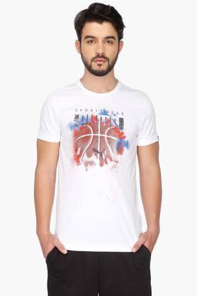 PUMAMens Round Neck Short Sleeves Printed T-Shirt - 201583875
