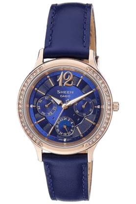 CASIOWomens Chronograph Round Dial Watch-SX145