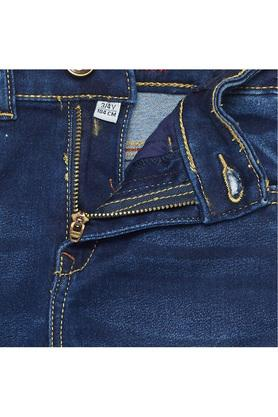 Boys Slim Fit Whiskered Effect Jeans