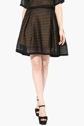 Womens Striped Short Skirt - 202511540