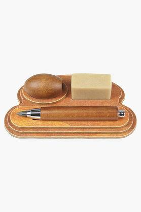 Pencil Set Rubinato Simil Wooden Base With Egg Sharpener Set