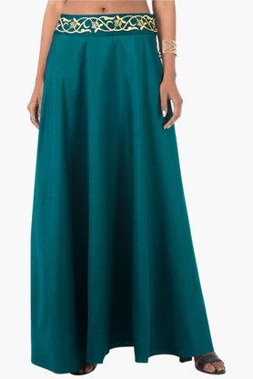 INDYA Womens Solid Long Skirt - 202498077_9327