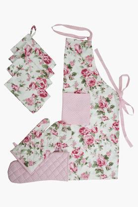 BLISS Multi Colour Printed Kitchen Linen Set (Apron) - 202233994