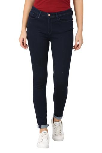 Womens 5 Pocket Solid Jeans
