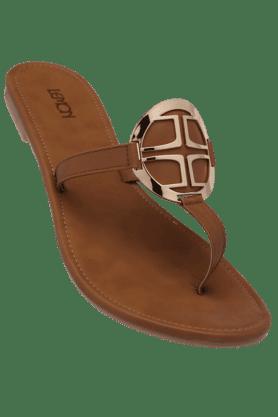 LEMON & PEPPERWomens Casual Slipon Flat Sandal