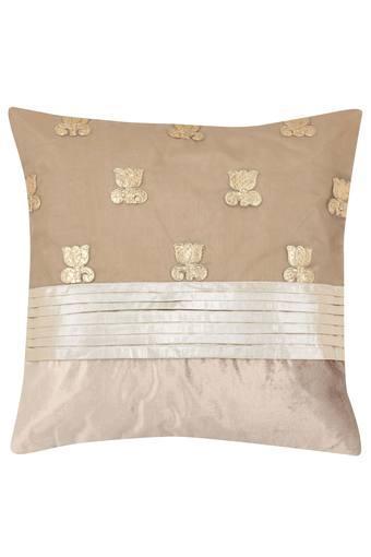 Square Slub Applique Cushion Cover
