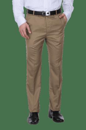 ARROWMens 4 Pocket Flat Front Slim Fit Solid Formal Trouser - 200664489
