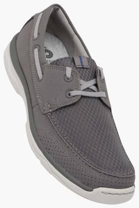 CLARKS Mens Mesh Lace Up Casual Boat Shoes  ...