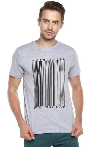 STOP -  Grey Melange T-shirts - Main