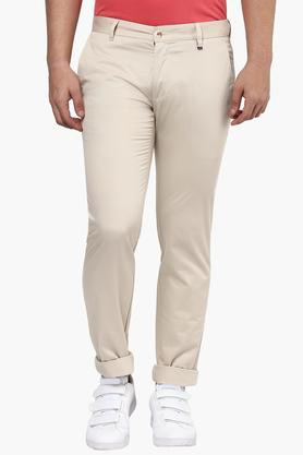 LOUIS PHILIPPE SPORTS Mens 4 Pocket Solid Chinos - 201690879