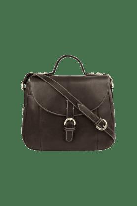 Womens Topaz Leather Hook Closure Shoulder Bag