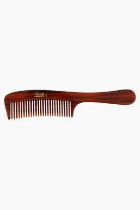 ROOTS Brown Wide Teeth Handle Comb For Fine/ Wavy/ Curly Hair- 6