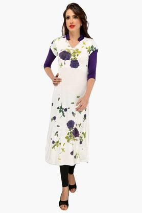 IRA SOLEILWomens Slim Fit Printed Kurta (Buy Any Ira Soleil Product And Get A Necklace Free) - 201787611