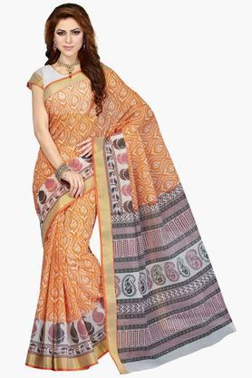 DEMARCA Women Cotton Blend Designer Saree - 202529104
