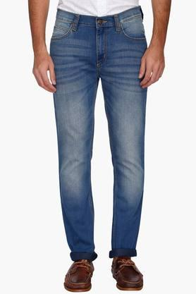 Lee Jeans (Men's) - Mens 5 Pocket Heavy Wash Whiskered Jeans